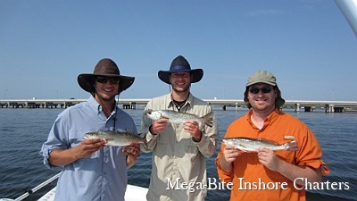 The guys had a great day fishing for trout in Pensacola Bay
