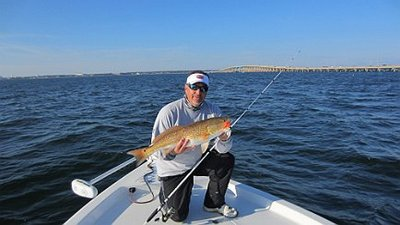 Capt. John with a nice Pensacola Bay Redfish