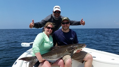Kevin had fun batteling this 50 lb Cobia
