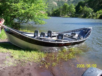 One of our four man boats