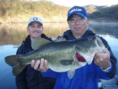 Bass Fishing on Lake Baccarac, Mexico