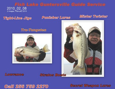 Guntersville Fishing Report on Fishing Report  Lake Guntersville 2 13 10