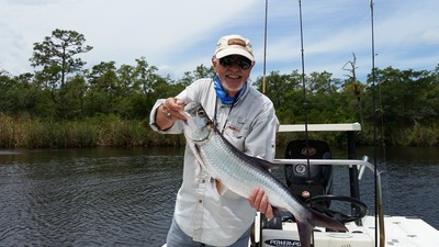 Jim M with Fly Tarpon