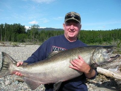 Photo of the Week: Seasons Past: A guest of Tracey Hittel of  Kitimat Lodge with a