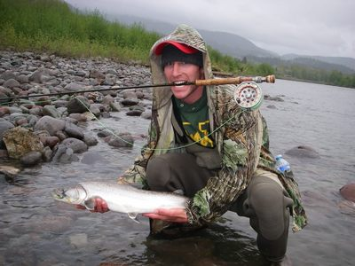 Bull trout fly fishing near Vancouver with Silversides Guided Fishing is best from March to July