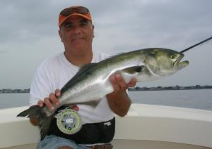 Capt Dave Azar w/ a J-Bay chopper on 8-wt.