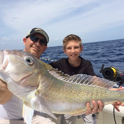 Big golden tilefish caught deep dropping