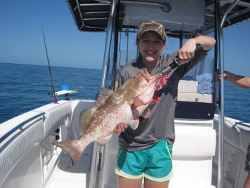 25-inch red grouper on pinfish
