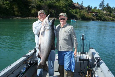 60-plus-pound Chetco River trophy salmon