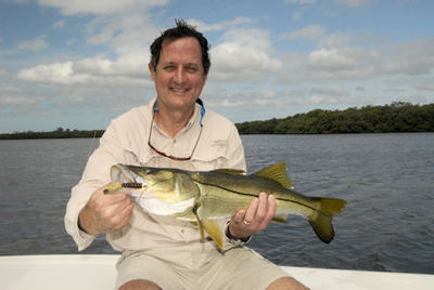 Ben Hatcher's Sarasota Bay CAL jig snook caught with Capt. Rick Grassett.