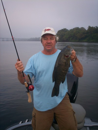 This big 5 pound smallmouth bass hit a zara super spook topwater lure!