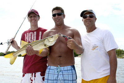 Decent snook caught on a morning trip with Capt. Woody Gore