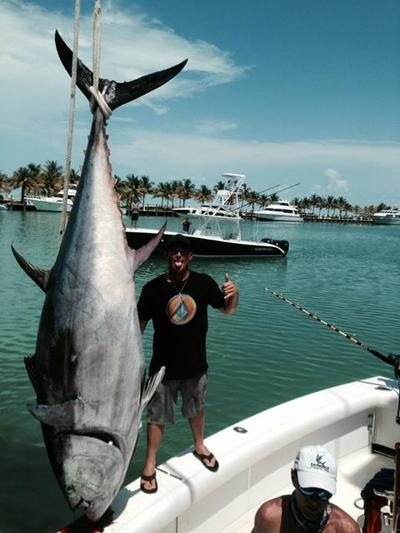Giant tuna back at the dock