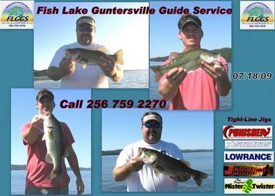Lake Guntersville Fishing Report on Fishing Report  Lake Guntersville 7 18 09