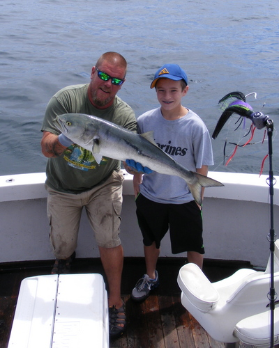 Matt Doran and his big bluefish...