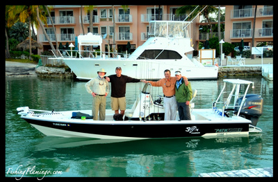 crew on a pathfinder 22 ready to fish