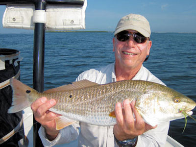 Gary Mintz Sarasota fly red caught & released with Capt. Rick Grassett.