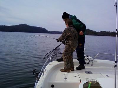 Lake allatoona fishing guides report 1 13 10 for Lake allatoona fishing