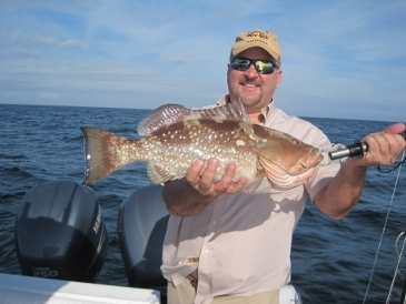 25-inch red grouper, released