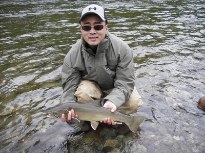 5 lb Bull trout fly fishing
