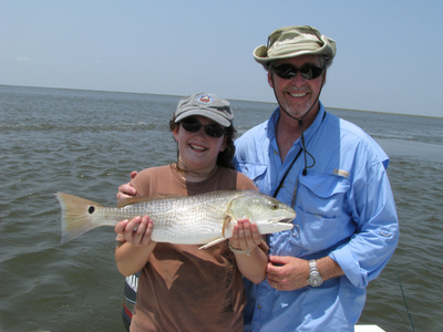 Father daughter redfish