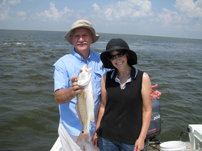 redfish action after trout limits