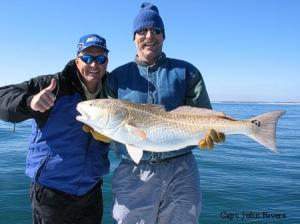 Mark shows off his first ever Redfish!