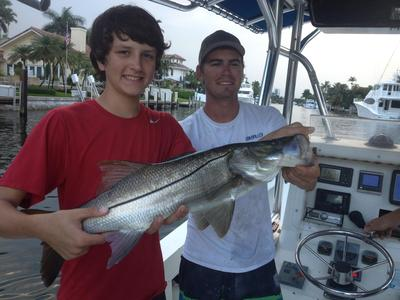 Nice snook just captured fishing the Intracoastal waterway