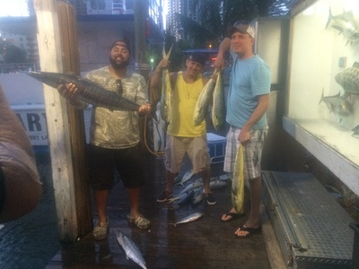 Nice catch of mahi-mahi, tunas and a wahoo