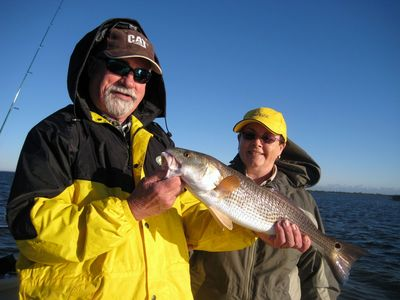 Bruce & Marg From Canada With A Nice Redfish!