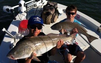 Two nice Over-slot Redfish!