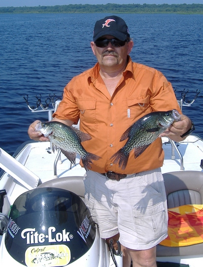 Guide Mike Baker catches his share of Lake Lochloosa fish which were all released today