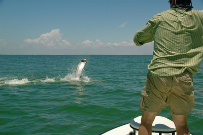 A special client of mine with his dream tarpon.