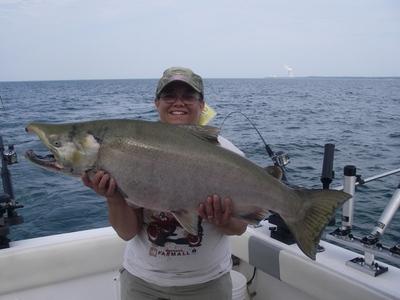 Lake ontario salmon river fishing report 9 5 10 for Salmon river fishing reports