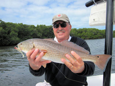 Tom Wright's Sarasota Bay CAL jig red caught and released with Capt. Rick Grassett