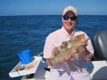 21-inch red grouper, on squid