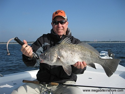 Andy with a monster Black Drum