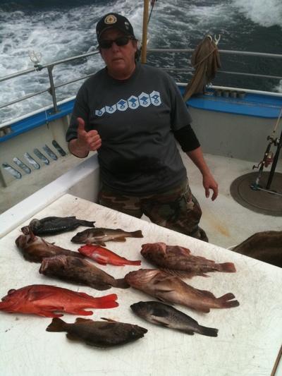 Sunday 6 12 rockfish lingcod half moon bay for Half moon bay fishing report