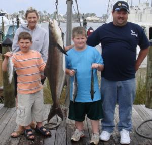 Nice cobia and spanish mackerel caught on 4 hour trip