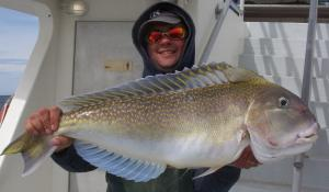 Denis with a 14.5 lb tilefish