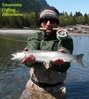 Bull trout caught flyfishing near Vancouver BC late April 2013