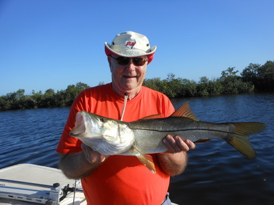 Fred with a nice snook
