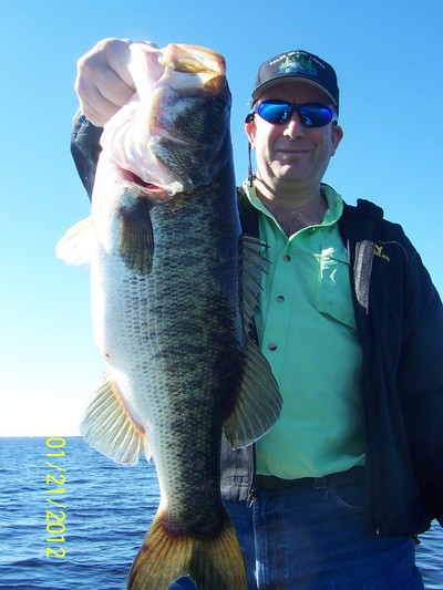 Greg with a Lake Toho Trophy 1/20/2012