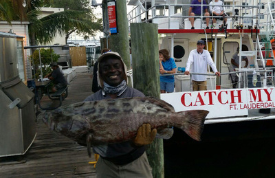 Giant Black Grouper on our $40 Drift Fishing Trip