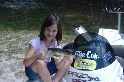 Mckenzi  has a good day on Lake  Lochloosa