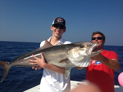 Nice amberjack just caugth dropping in 200ft of water