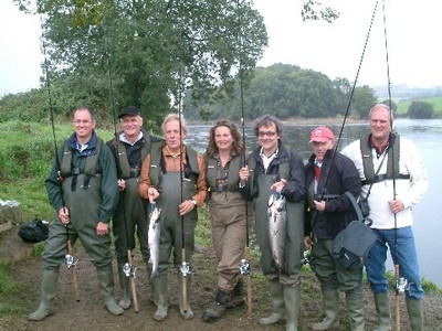 The 6 rod Van de Laar party with guide Glenda Powell