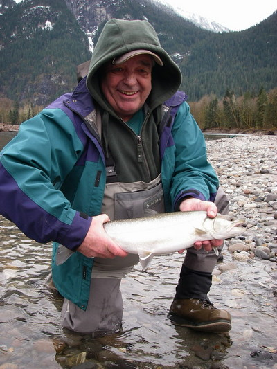 a nice 4 lb Bull trout typical of our fly fishery