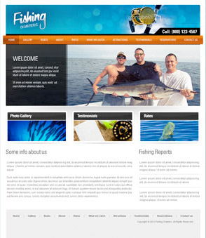 Free Fishing Web Templates